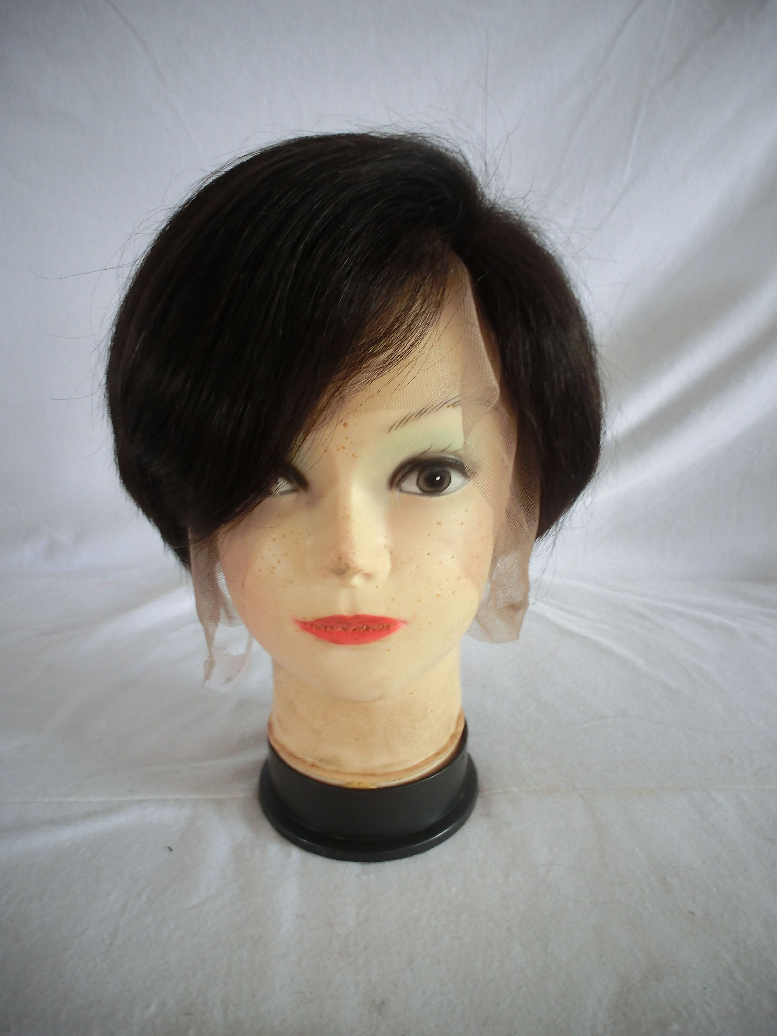 Unprocessed Indian Malaysian Short Hair Wig Full Lace