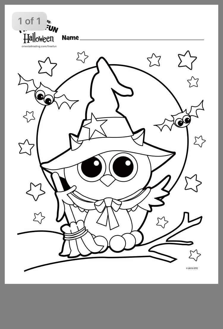 Pin By Lisa Sanchez On Montessori Classroom Halloween Coloring Sheets Owl Coloring Pages Halloween Coloring
