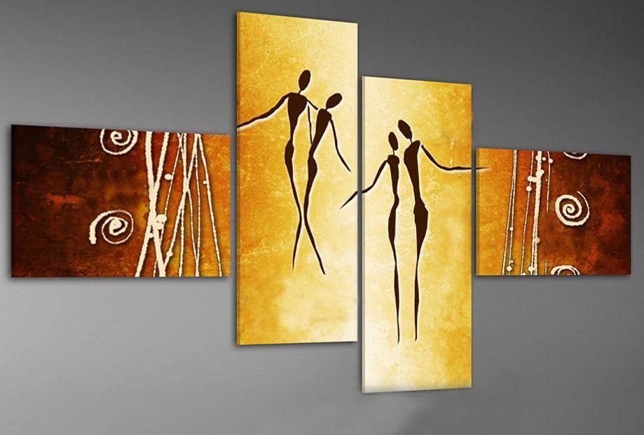 Cuadros Abstractos Tripticos Dipticos Etnicos Flores   Canvases ...