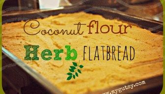 Coconut flour Herb Flatbread