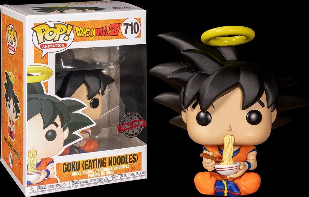 Amazon Exclusive Goku Eating Noodles Unboxed Vinyl Figures Funko Pop Funko