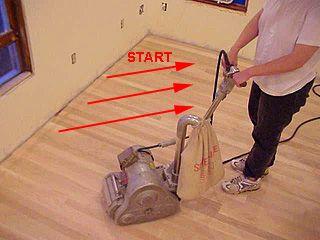 Sanding A New Hardwood Floor With A Rental Drum Sander Sanding Hardwood Floors Flooring