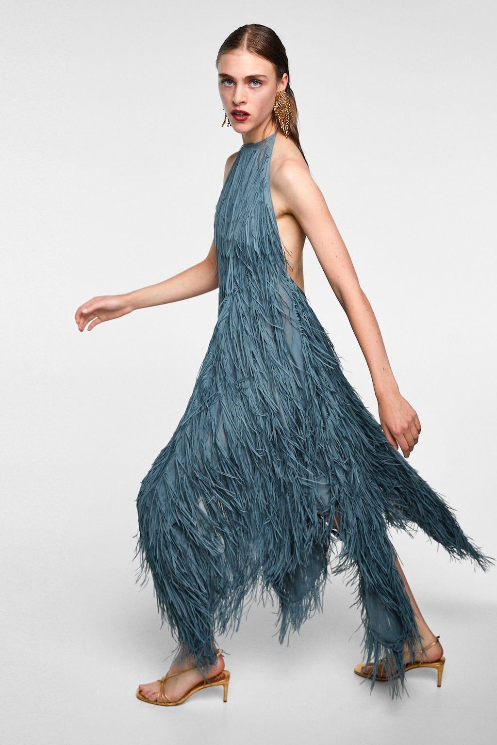 9a460d7f Imagen 6 de VESTIDO HALTER FLECOS de Zara | Zara Inspo in 2019 ...