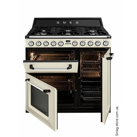 Cocina De Gas Smeg Tr93p Cocina De Gas Cocina De Ensueno Cocinas De Estilo Rustico