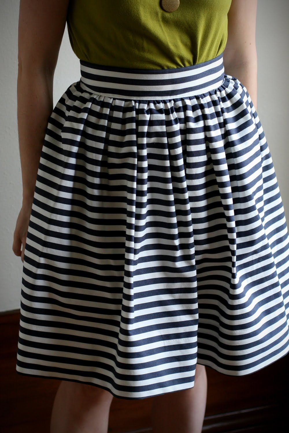 DIY: Striped Gathered Skirt | Say Yes to Hoboken | Sewing | Pinterest