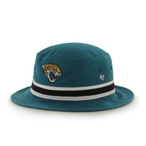 43178e800b4 NFL Jacksonville Jaguars Striped Bucket Hat