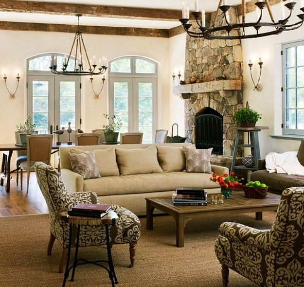 A New House Inspired By Old French Country Cottages Country Living Room Design French Country Living Room French Country Living