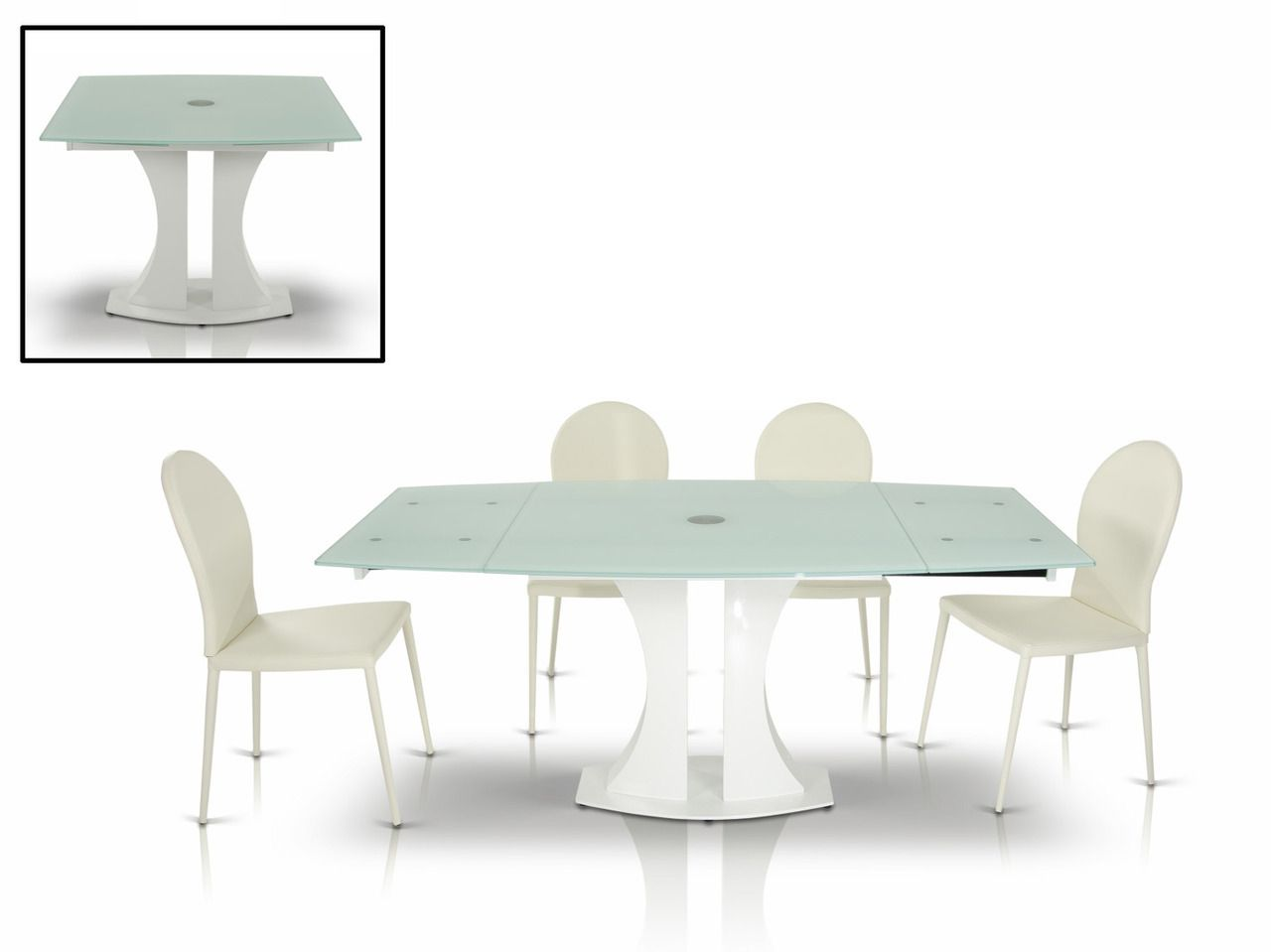 Italian Glass Dining Table Extendable Pin By Stylish Design Furniture On Modern Dining Table