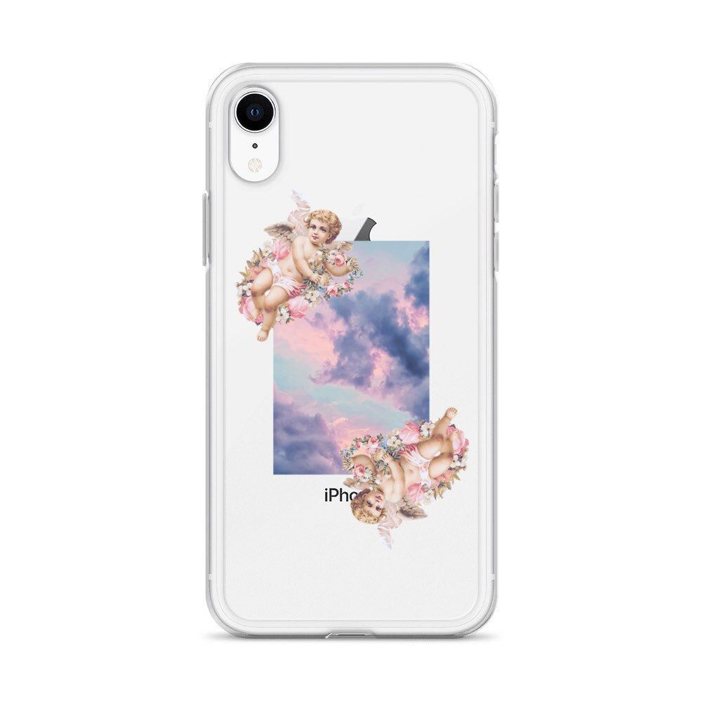 Aesthetic Angel Cherub Clouds Phone Case With Design For Etsy Clear Phone Case Phone Cases Cloud Phone