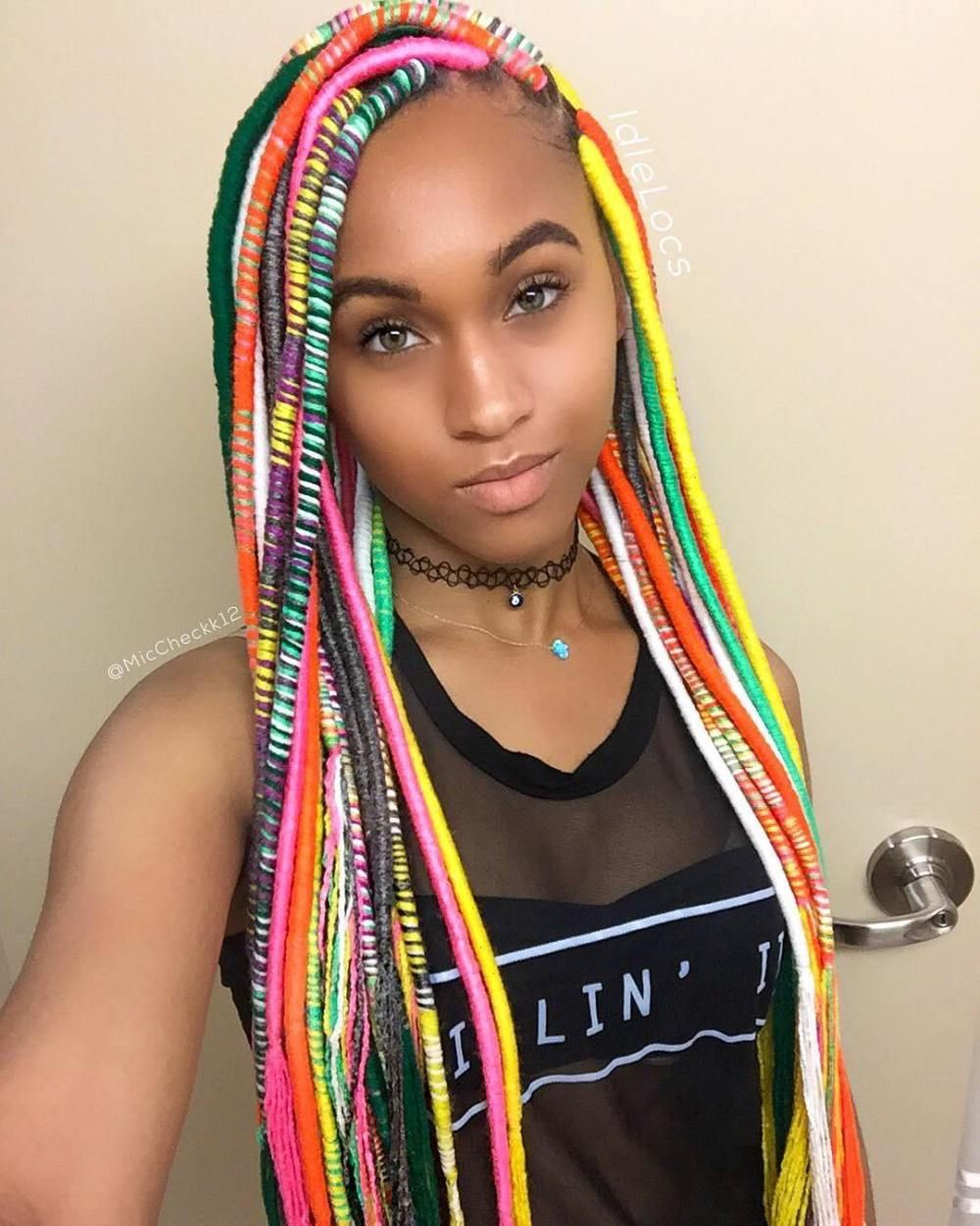 20 Playful Ways to Wear Yarn Dreads