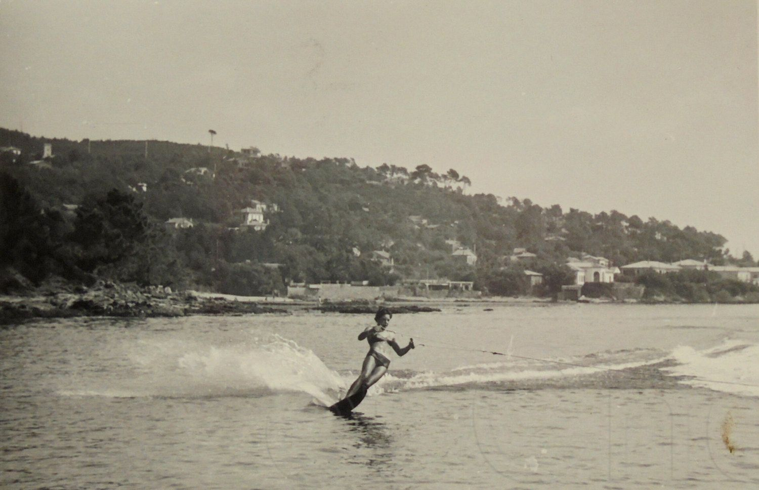 Vintage French Summer Photo - Woman Water Skiing by ChicEtChoc on Etsy