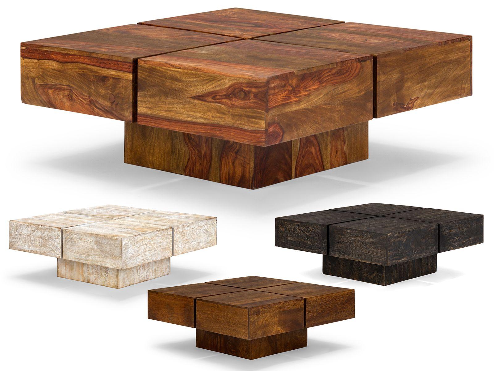 details zu massivum couchtisch 75x75 massiv holz sofatisch m bel neu square tables