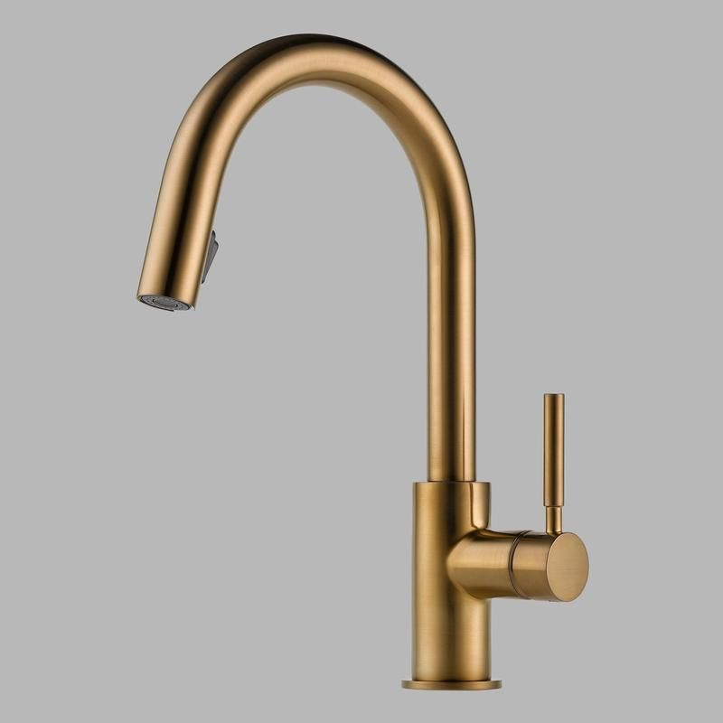 High Quality Brizo 63020LF Solna Single Handle Pull Down Kitchen Faucet   Newport Brass  Faucets