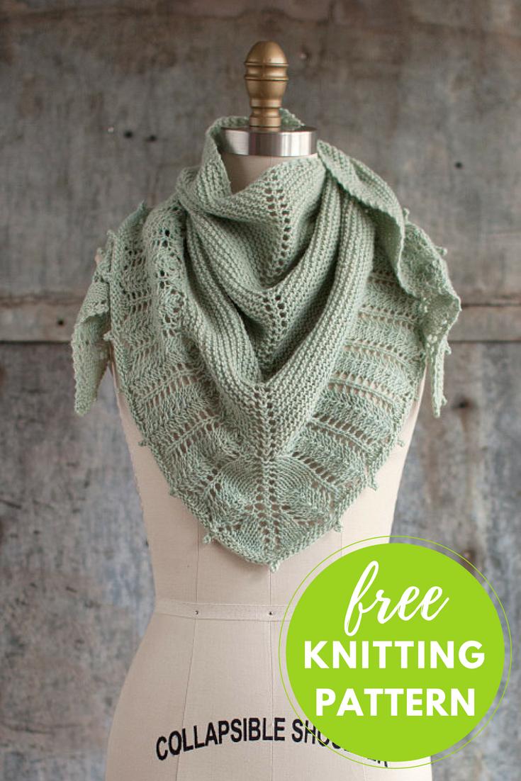 Pluma Shawlette Free Knitting Pattern! | Knit patterns, Yarns and ...