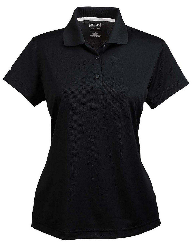 Women Golf Clothing - Adidas Golf A131 ClimaLite Pique SSleeve Polo Black  3XL 98f297f7a7