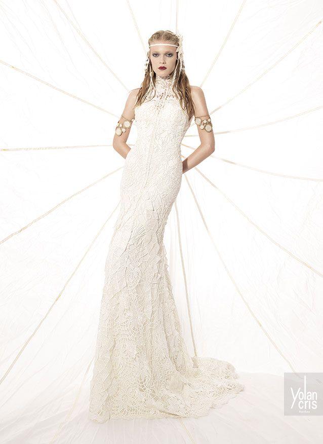 Bernabe wedding dress #yolancris #weddingdress #bohemiandress #boho ...