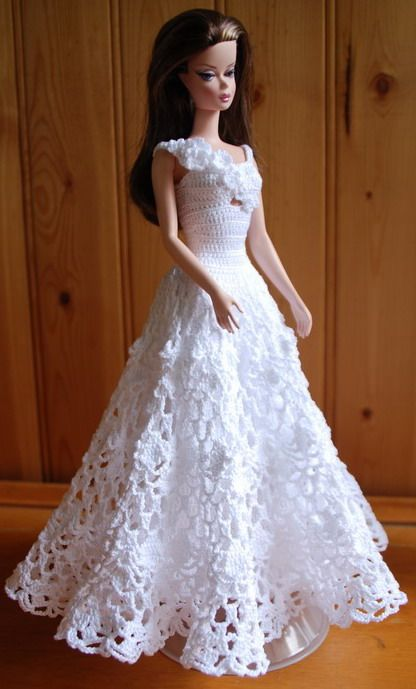 Barbie crochet gowns jan flickr qw barbie for How to make a barbie wedding dress