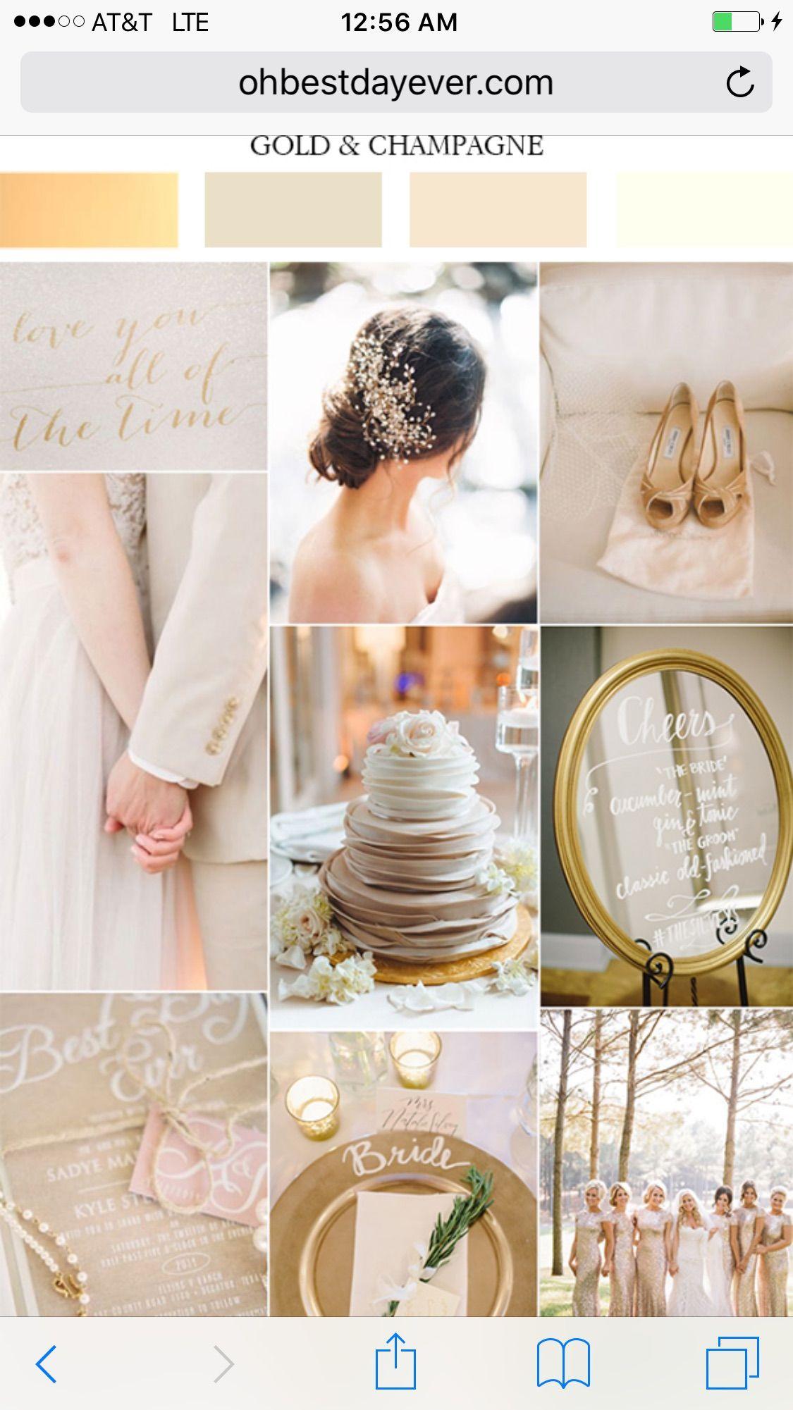 Pin by Erika on Lanai Wedding in 2019 Champagne wedding