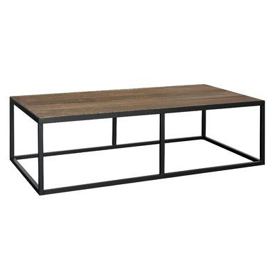REZFurniture Rectangular Vintage Coffee Table Base Finish Silver