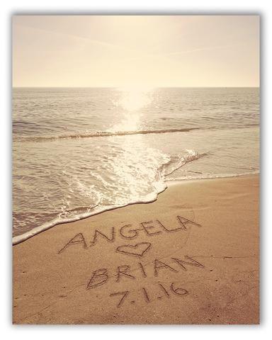 personalized beach print