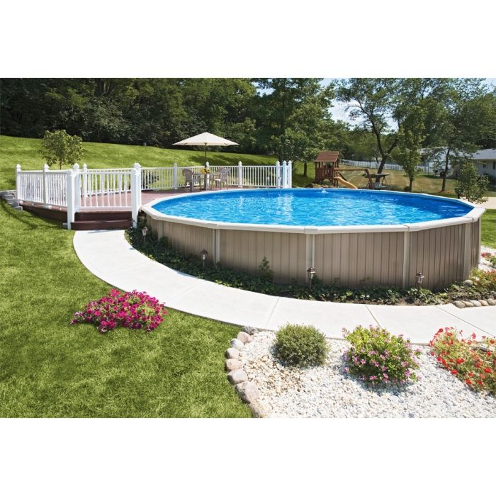 Semi Inground Pool Above Ground Pools In 2019 Semi