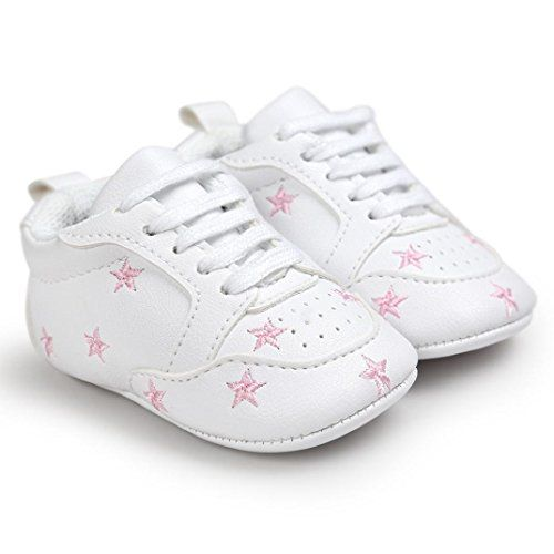 DZT1968 Baby Embroidery Fivepointed star Love Shape Bandage Toddler Sneakers Shoes 06 Month Pink