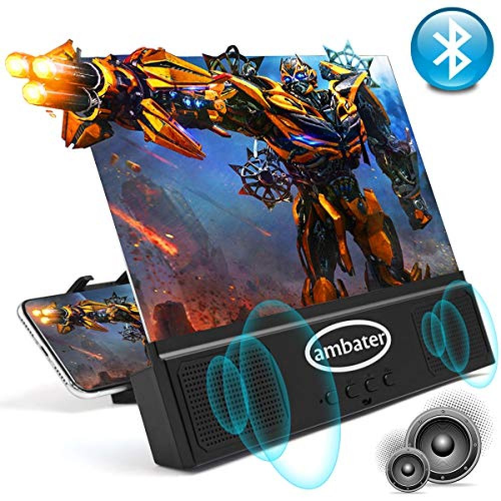 Gaming Videos 3D Movies Amplifier Projector with Foldable/&Adjustable Stands for Movies DRIDOUAM 12 Anti-Blue Light HD Phone Screen Magnifier with Bluetooth Speaker for Hands-Free Calling//Music