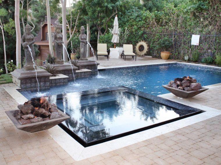 Aménagement jardin - éprenez-vous de la fontaine de jardin Modern - amenagement jardin avec spa