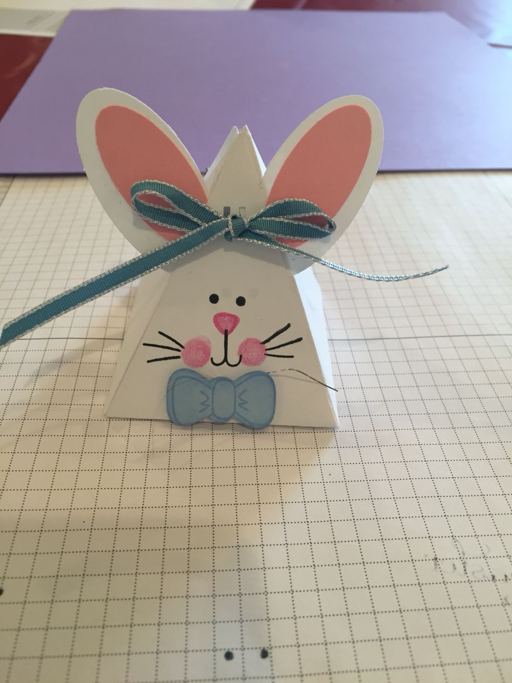 Here is my bunny version using oval punches and the pyramid pals thinlits dies and stamp set.