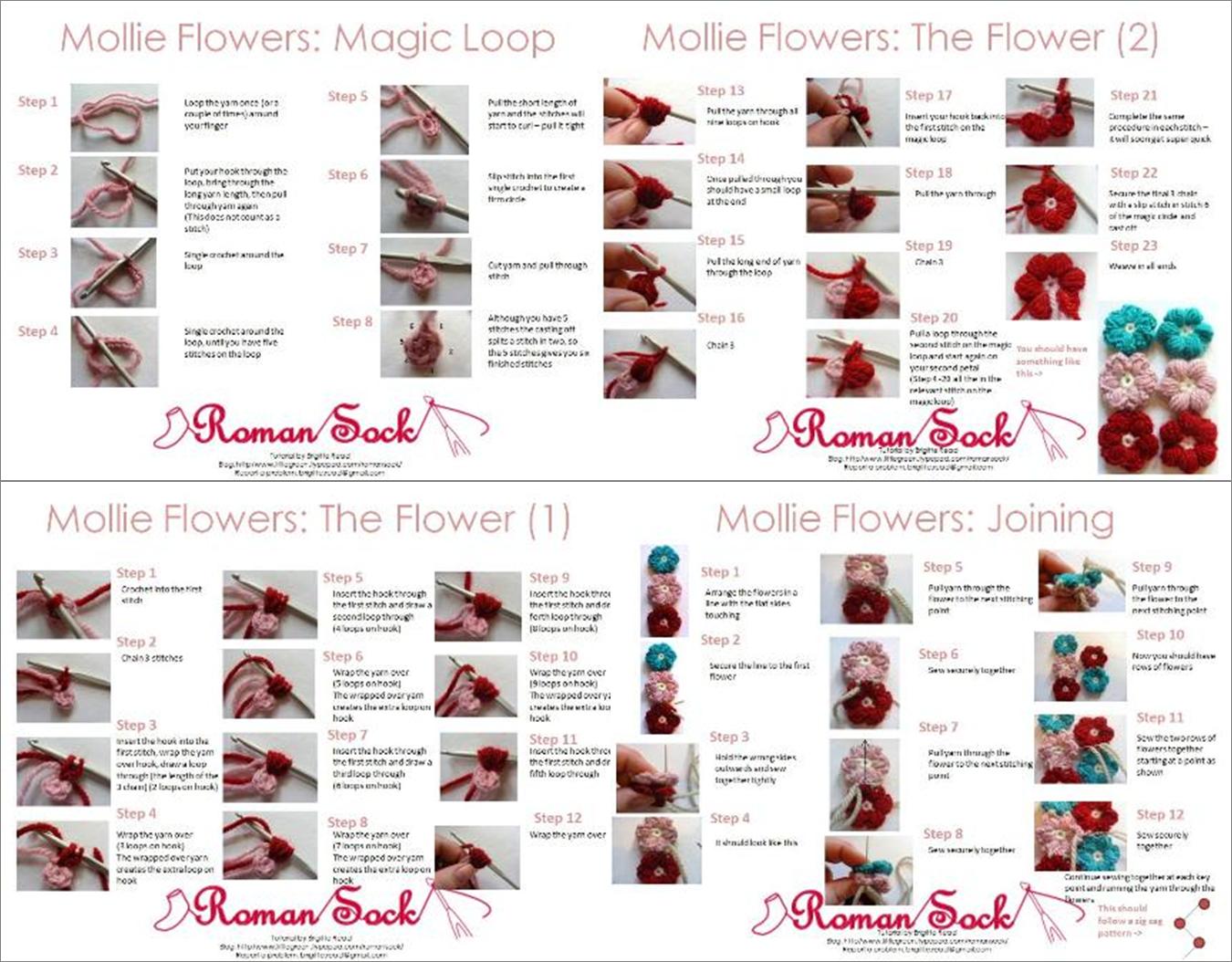 6a00d8352f394169e201157037a426970b Pi 13501054 Pretty Things Rose Crochet Flores Crochetflowers Flower Diagram Mollie Flowers Step By