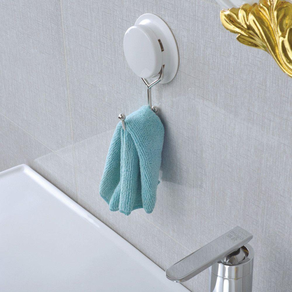 Buy Gar Bath Plastic Suction Cup Stainless Steel Towel Holder/Hooks ...
