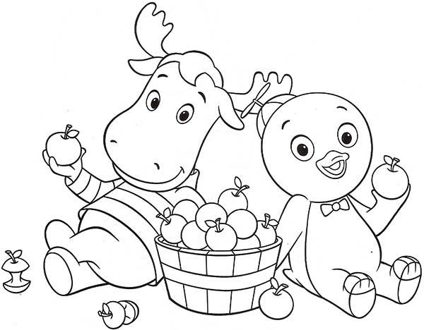 Pablo And Tyrone Eat Some Fruit In The Backyardigans Coloring Page Kids Play Color In 2020 Toddler Coloring Book Cartoon Coloring Pages Coloring Pages
