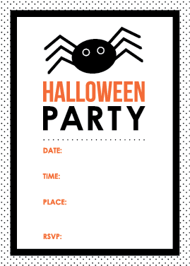 free printable halloween party invitation #halloweenprintables ...