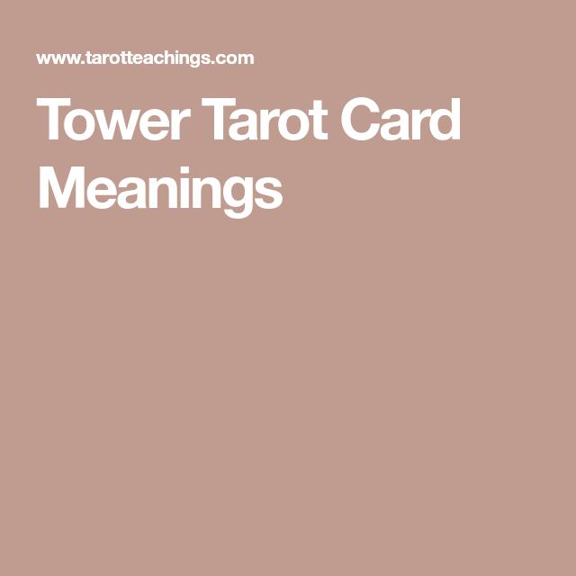 Tower Tarot Card Meanings   The Tower - XVI   Tarot card