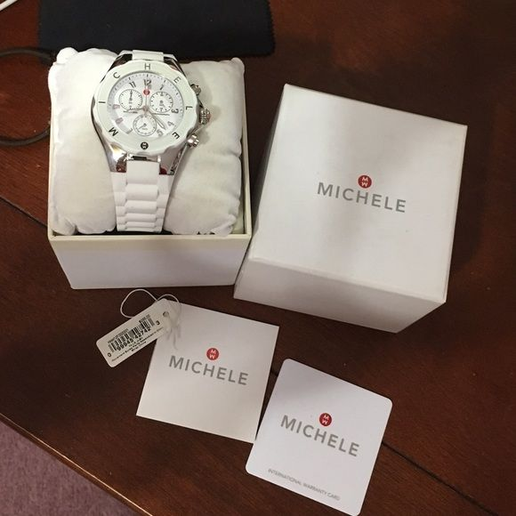 *BRAND NEW* Michele jelly watch Got as a gift, never worn, with tags and certificate of authenticity! Michele Accessories Watches