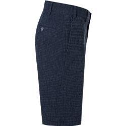 Photo of Hiltl men's pants Bermuda Pulia, contemporary fit, cotton, dark blue Hiltl