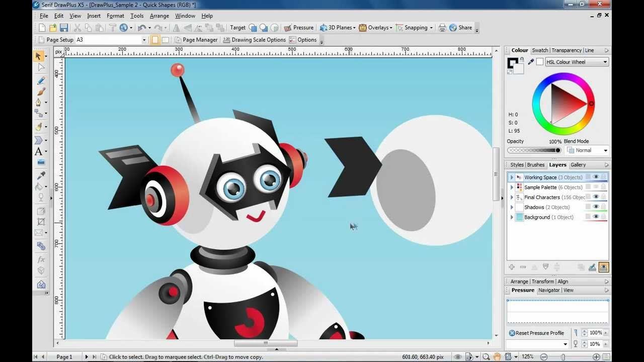 Create Stylish Artwork In Drawplus X5 Using Quickshapes Draw Plus
