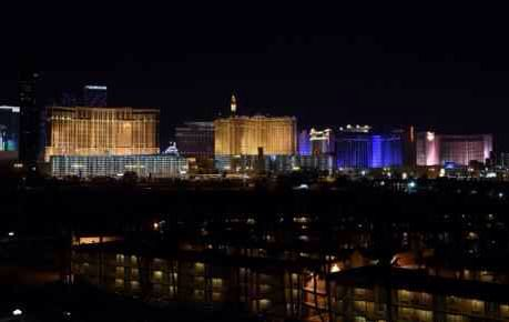 The Vegas strip making tribute to Tark.