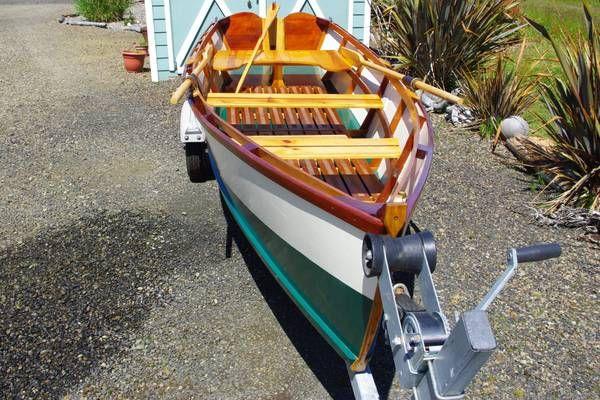 Custom Wood Row Boat Boat Building Cool Boats Wooden Boats