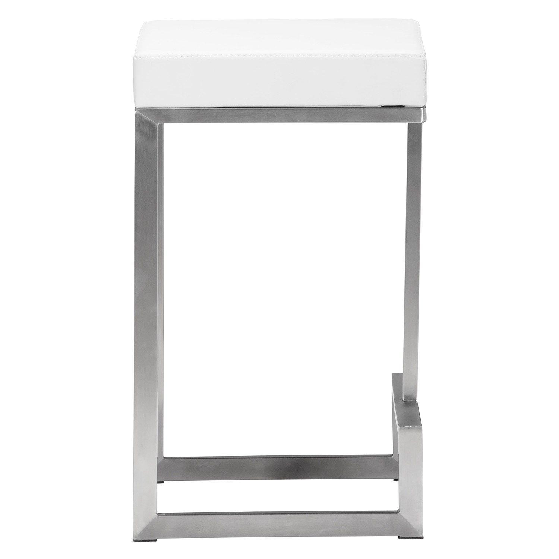 Darwen White Counter Chair Set Of 2 Counter Stools Zuo Modern Stool