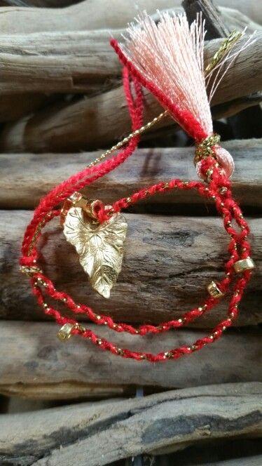 Bracelet by Rocio Prestini.gold leaf