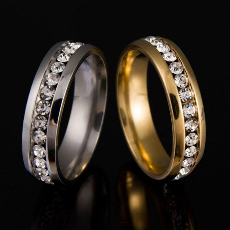 New Gold Colour 316L Stainless Steel Ring Titanium Steel ...