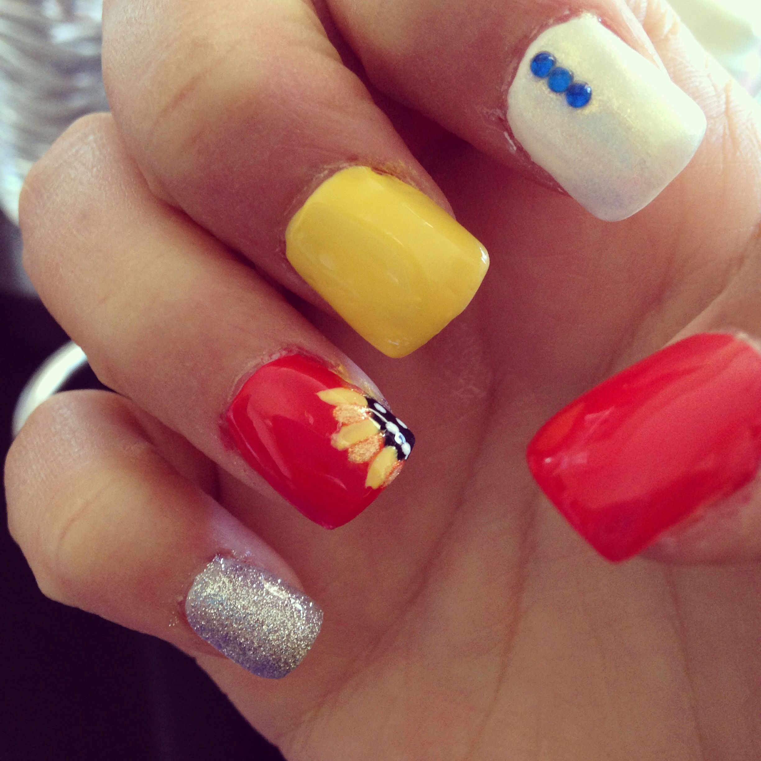 EDC Las Vegas Nails, Rave Nails, Festival Nails, Sunflower Nails- by ...