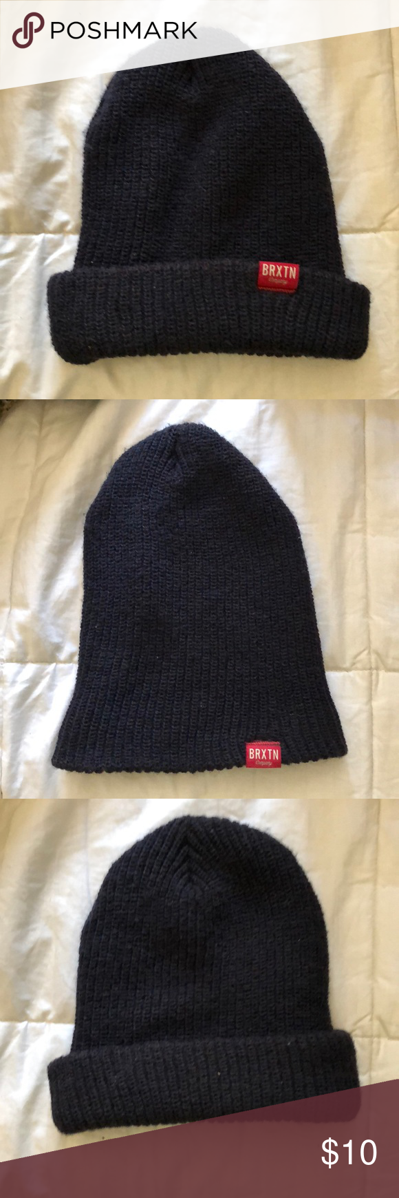 970f8e2a6 Brixton Redmond Beanie Dark blue/indigo color. Knit. Only worn twice ...