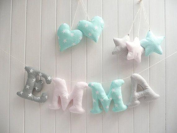 Briefe spielzeug baby und kids room decor name wand dekor - Baby jungenzimmer ...