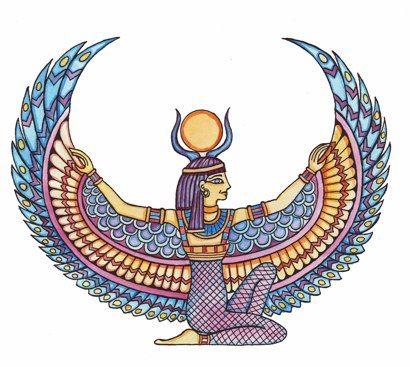 The Egyptian goddess Isis