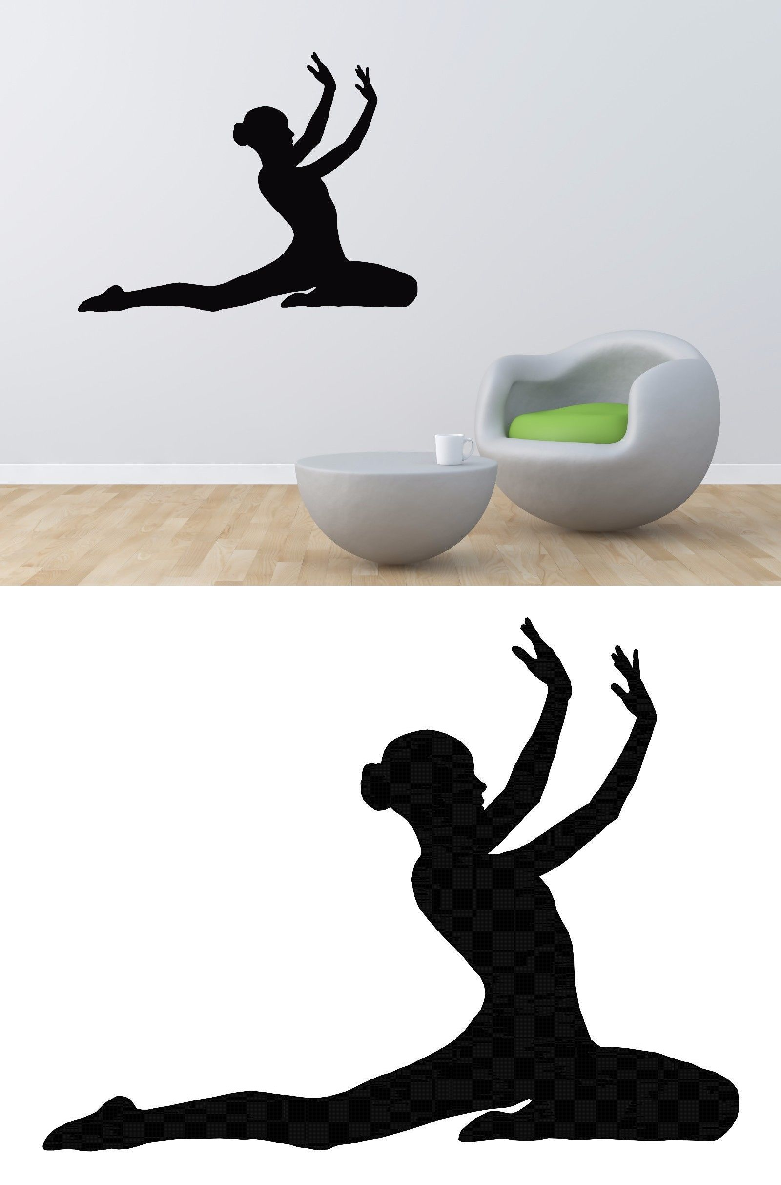 Woman silhouette decal removable wall sticker home decor art ebay - Decals Stickers And Vinyl Art 159889 Gymnast Wall Decal Vinyl Gymnastics Sticker Girl Room Decor