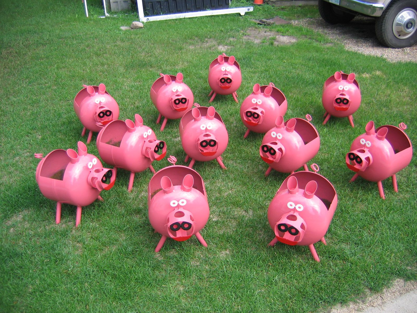 what to do with all those empty propane tanks in my backyard