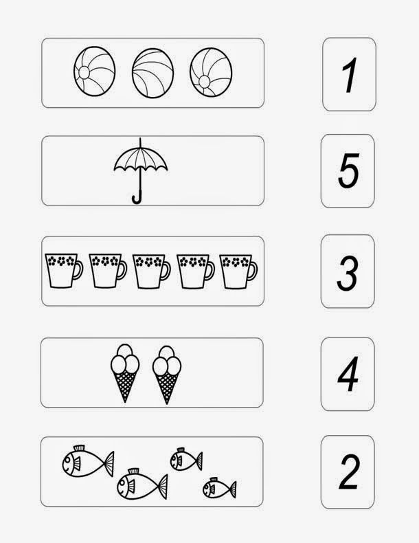 basic math numbers 1 to 5 worksheet for preschool kids Dkidspage