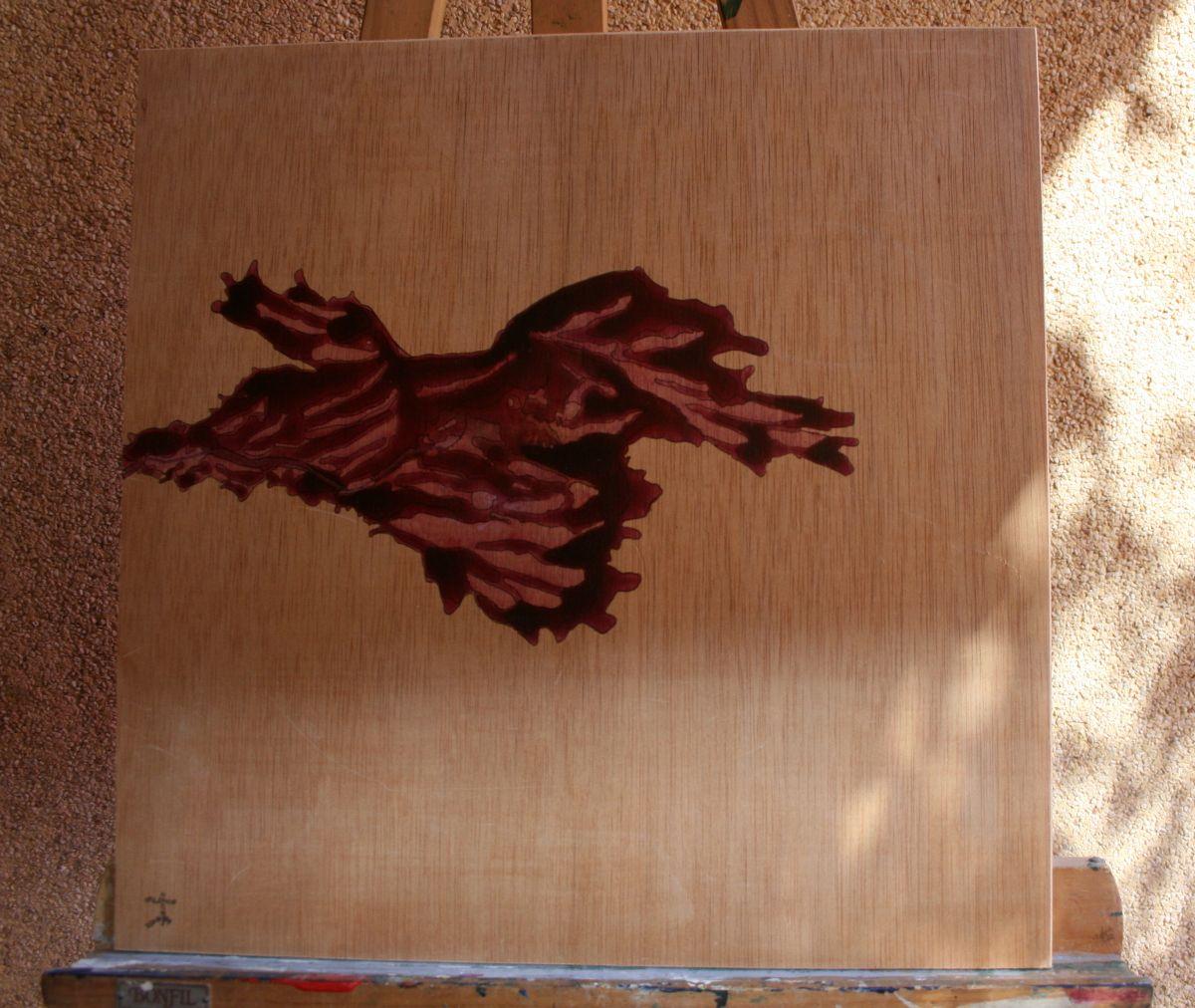 #arte #abstracto #mixta #pintura #acrilica #cinta #madera #tabla #morado 41x41cm #2015